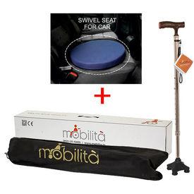 Combo Deal ( Swivel Seat+ Mobilita Walking cane)