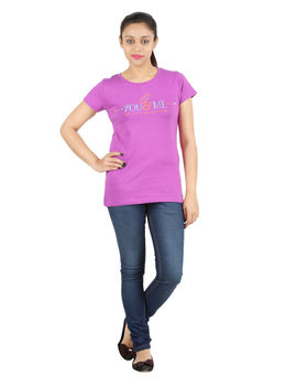 YMF / ROMANTIK TEE, m,  purple