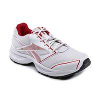 reebok city runner, white excelent red silver, 11