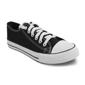 Romanfox casual sneaker shoes, black white, 9
