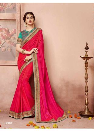 Red Designer Wedding Silk Saree