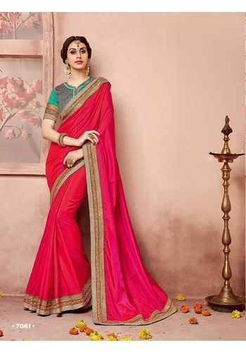 Red Designer Wedding Silk Saree
