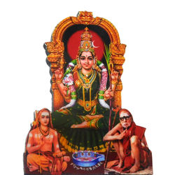 Sri Kamatchi with Jagathguru - Tabletop, 16 inches
