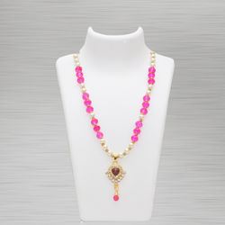 Crystal Necklace Pink