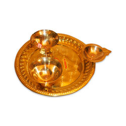 "Pooja Plate (Weight-400 Grms, Diameter-8"" )"