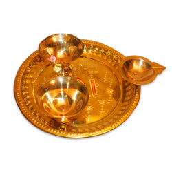 "Pooja Plate (Weight-500 Grms, Diameter-10"" )"