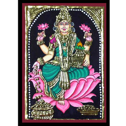 Sri Lakshmi (Tanjore Painting), 6 inches by 8 inches