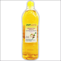 FITLITE Wood Chekku Groundnut oil, 1 lit