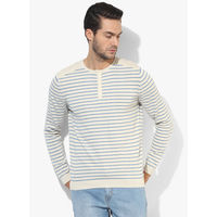 Levi's Striped Henley T-Shirt, s,  cream