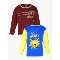 Chhota Bheem Pack Of 2 Multicoloured Value Packs T-Shirts, 7-8 y