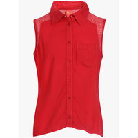 Miss Alibi Red Casual Top, 13-14 y