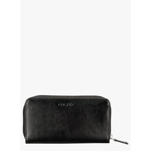 Cognac Black Leather Wallet