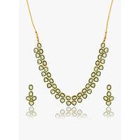 Voylla Kundan Embellished Necklace Set For You
