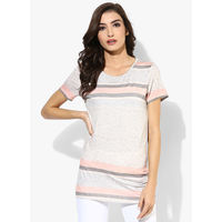 Dorothy Perkins Pastel Striped Tee, s,  grey