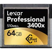 Lexar CFAST 64GB 3400X Memory Card