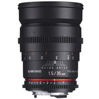 Samyang 35mm T1.5 AS UMC VDSLR Lens for Canon, Nikon