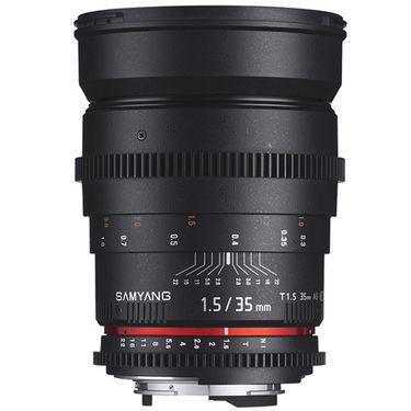 Samyang 35mm T1.5 AS UMC VDSLR Lens for Canon, Nikon