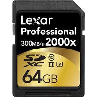 Lexar PRO SDHC 64GB 2000X C10 USH-1 Memory Card