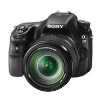 Sony SLT-A58M DSLR (with 18-135 mm Kit),  black