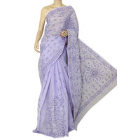Lavender Lucknowi Chikankari Saree
