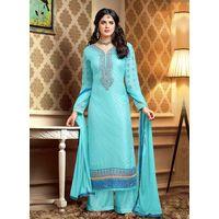 Blue Salwar Suit.