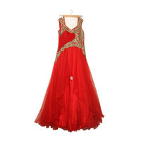 Red Colour Party Wear Gown
