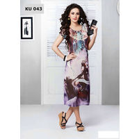 Multicolored Digital Printed Long Kurta