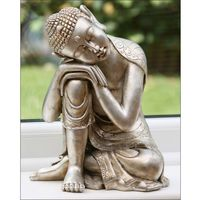 Painting Silver Lord Buddha Meditating