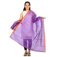 Purple Venkatagiri Cotton Handloom Dupatta