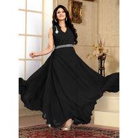 Black Western Designer Gown