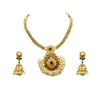 Beautiful Kundan Pearl Necklace set
