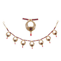 Torans / Door Hanging/ Bandhanwar in Pearls and red motis