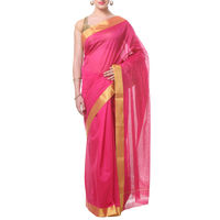 Light Pink Tussar Cotton Saree