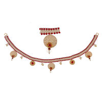 Torans / Door Hanging/ Bandhanwar in Pearls and Red brooch