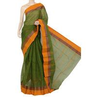 Mehendi Green Bengali Tant Saree
