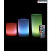 Multicolour LED Candles with Remote - Set of 3