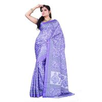 Purple Crepe Printed Saree