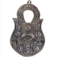 Jaipuri Oxidized 5 Key Holder in White Metal
