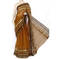 Brown Bengali Tant Saree
