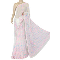 Off White Lucknowi Chikankari Saree