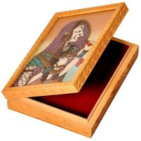 Ethnic Gemstone Painted Wooden Ethnic Jewelry Box