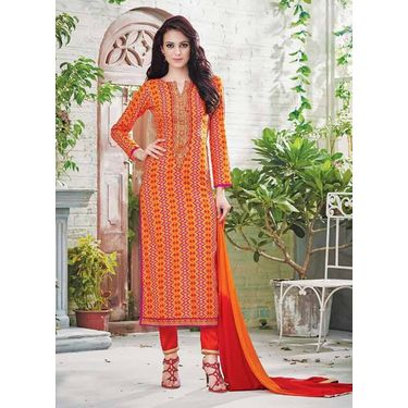 Orange Salwar Suit