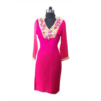 Elegant Pink Chiffon Kurti