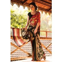 Floral Printed Georgette Saree