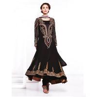 Black Georgette Embroider Anarkali Suit
