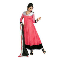 Plum Pink Net Anarkali