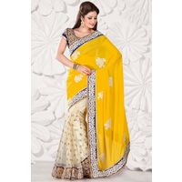 Net & Georgette Sequiens Work Saree