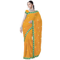 Colourful Chiffon Leheriya Saree