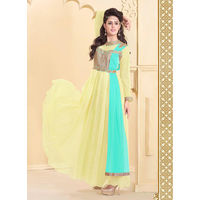 Yellow Designer Gown