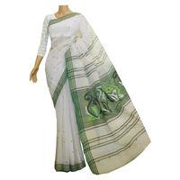 Off-White Cotton Jamdani Saree